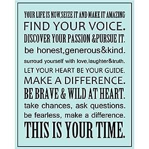 Amazon.com: Frases motivadoras carteles impresiones tu vida ...