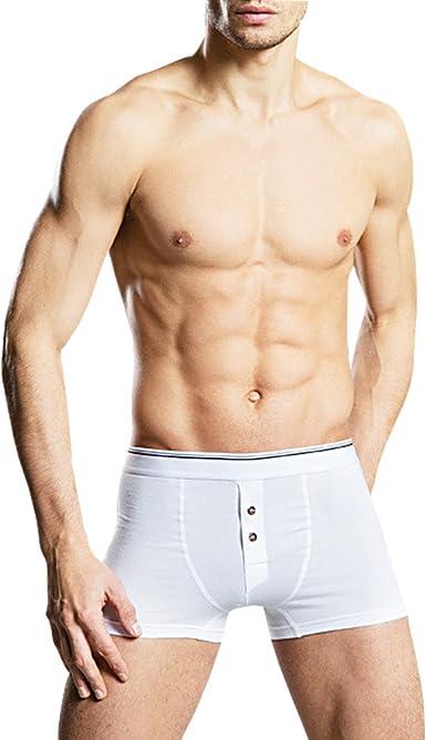 Blanc Homme Spandex Sous-vêtements Tailles S-5XL