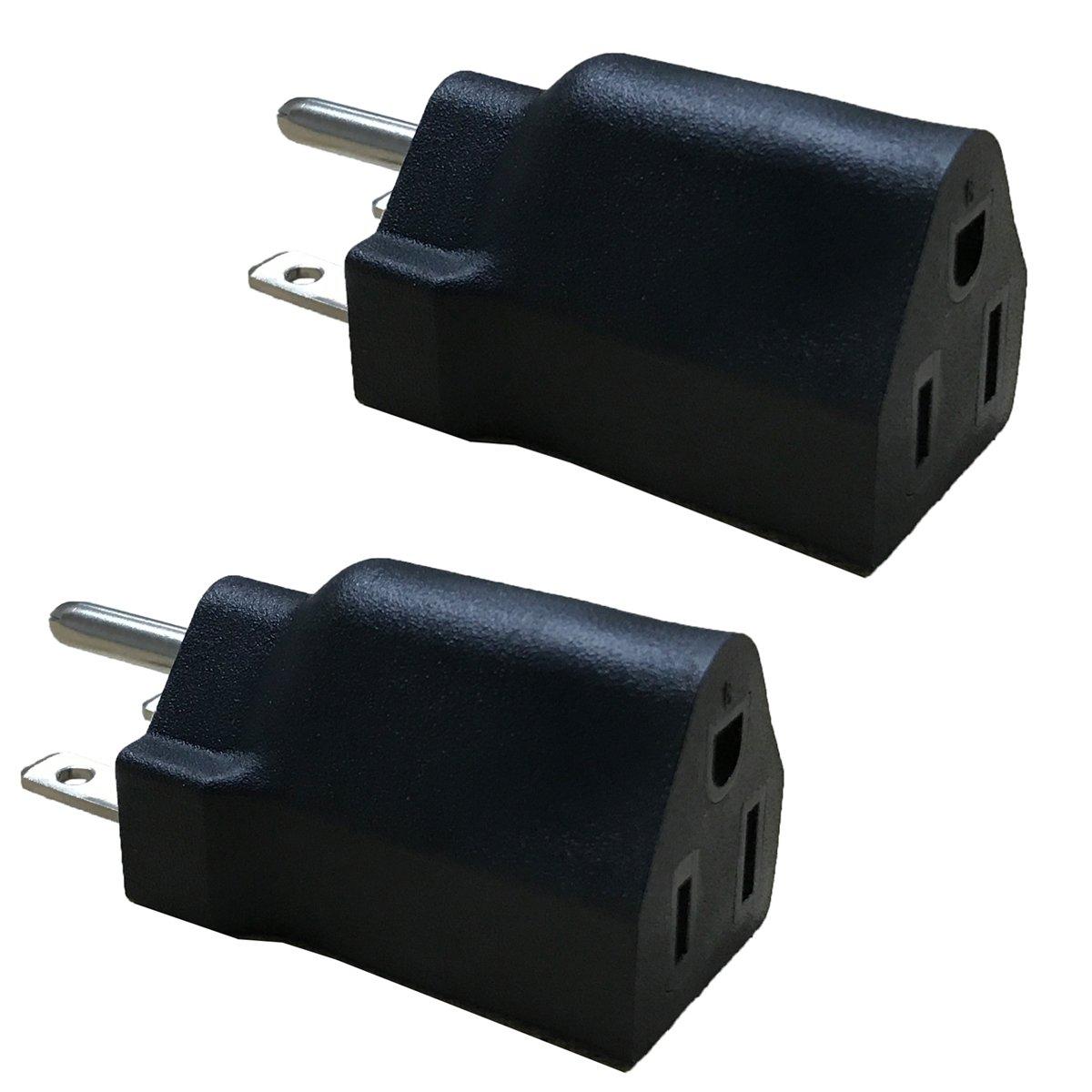 BloomGrow Power 110V-120V Change to 220V-240V Voltage Converter Adapter (1 PC)