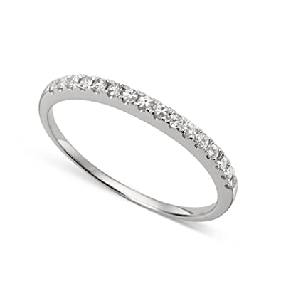 Amazon.com: 14k White Gold 1.3mm Round Forever Classic Moissanite