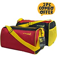 Mufubu Presents Get Unbarred Pack of 2 Red & Black Duffle Gym Bag 20 LTR Each
