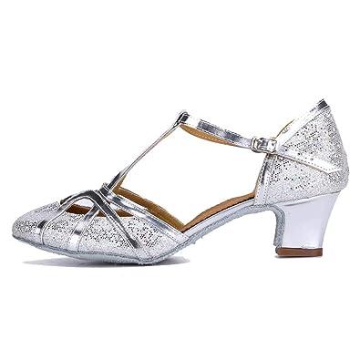 scopri le ultime tendenze qualità superiore vendita professionale YKXLM Donna & Bambine Paillettes Scarpe da Ballo Latino/Standard Ballroom  Sala da Ballo Scarpe,Modello-ITCMJ51