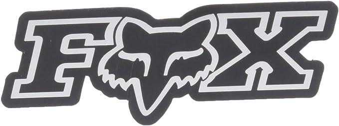 Fox Men S Corporate Aufkleber 7 6 Cm Chrom Einheitsgröße Bekleidung