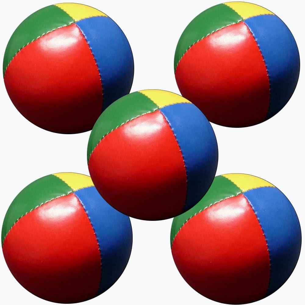 Set 5 malabares bolas de 62mm 90g cada una (4 colores) Rojo, Verde ...