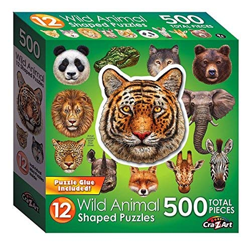 (LPF Wild Animal : A Collection of 12 Mini Shaped Puzzles Totaling 500 color coded pieces By Artist: Sergio Botero)