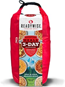 Wise Company ReadyWise 3-Day Adventure Bag   Freeze-Dried Backpacking & Camping Food   Waterproof Dry Bag   41 Servings