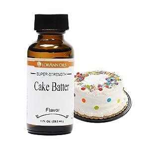 LorAnn Super Strength Cake Batter Flavor, 1 ounce bottle