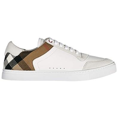 Burberry Scarpe Sneakers Donna in Pelle Nuove Beige: Amazon