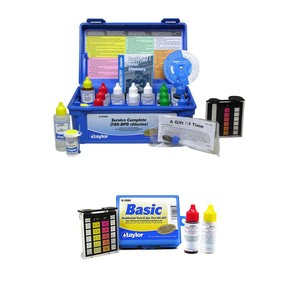 Taylor K-2006C Complete Swimming Pool Chlorine Test Kit w/Additional Basic Kit by Taylor