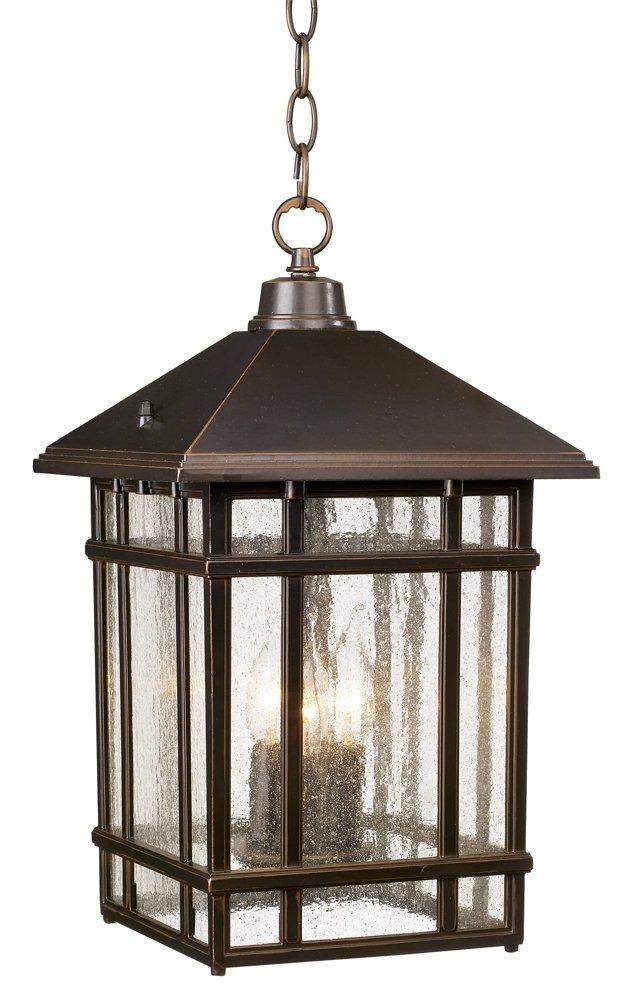 J du J Sierra Craftsman 16 1/2'' High Outdoor Hanging Light