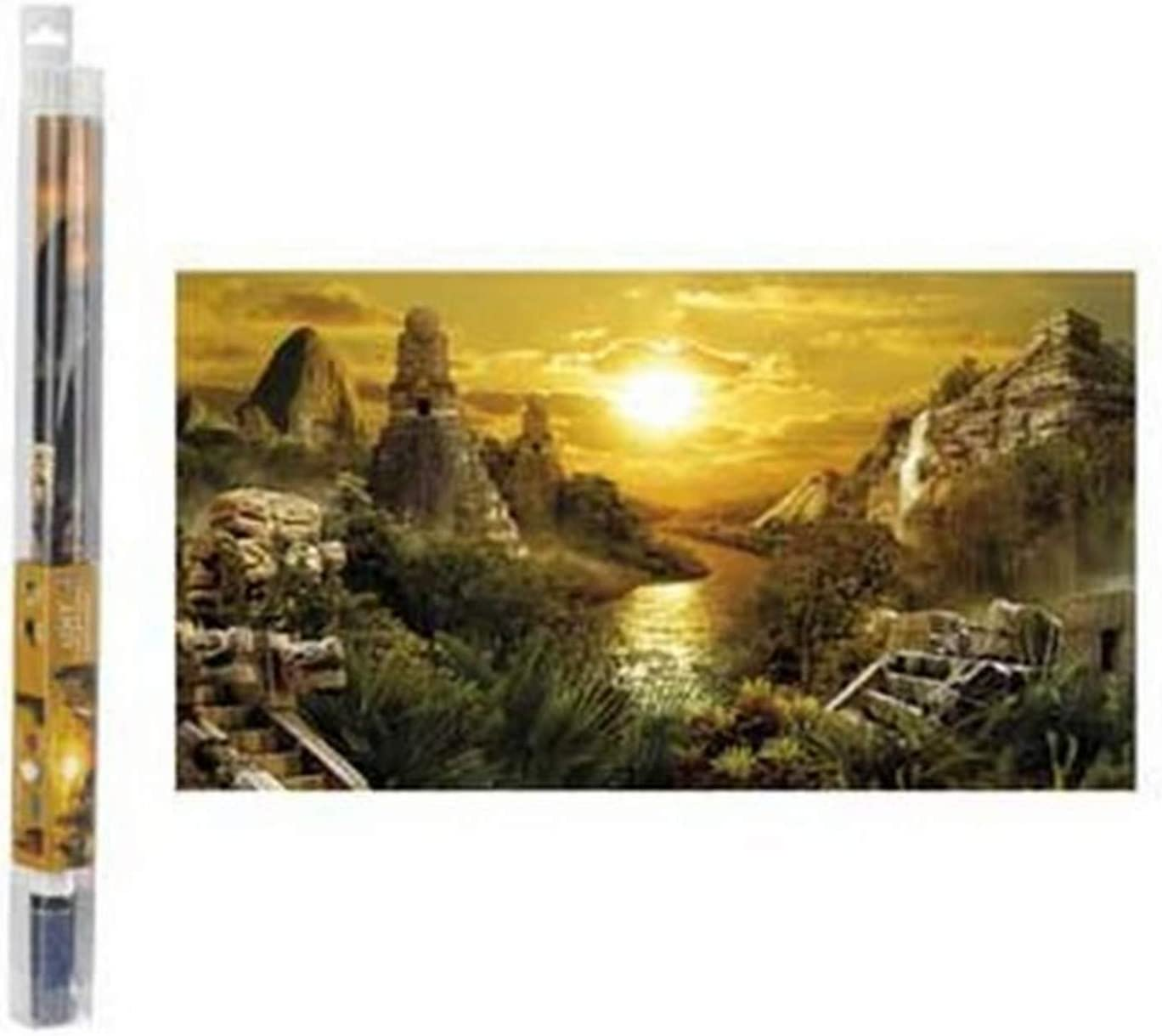 """Hydor H2Show Lost Civilization Background with Application Gel, 31.5"""" x 15.75"""""""