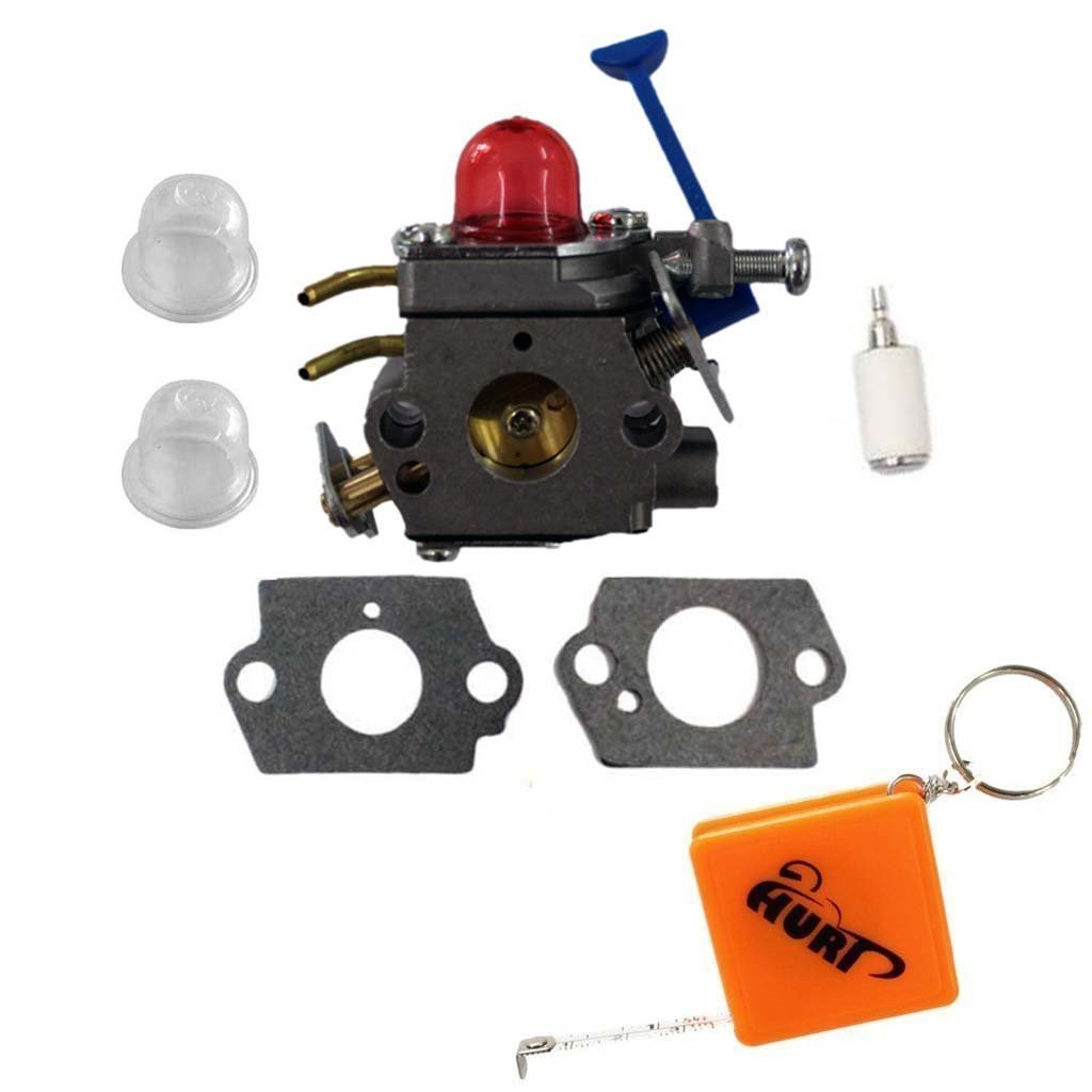 HURI Carburetor with Gasket Fuel Filter Primer Bulb for Husqvarna 125R 125RJ 128C 128CD 128L 128LD 128LDX 128R Trimmer Brushcutter