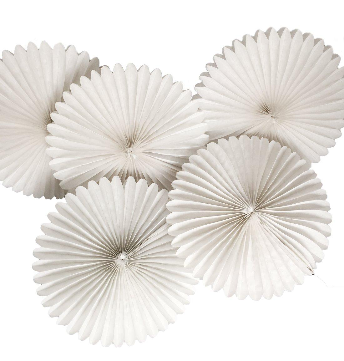 Amazon 5pcs 8 Tissue Paper Fan Flowers Wedding Party