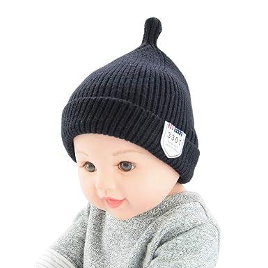 CATSAP Infant Baby Toddler Boys Girls Thick Warm Winter Knit Beanie Hat  Crochet Ski Ball Skull 6e7cb60ce1bc