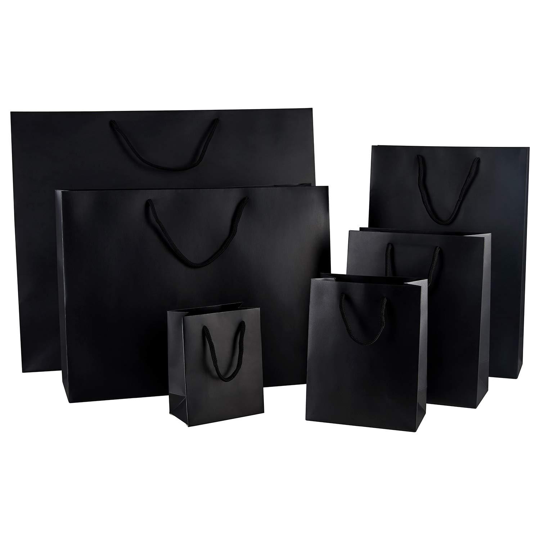 Thepaperbagstore 100 100 100 Schwarz Medium Luxus Matt Seilgriff Papiertüten 200x100x240mm - Wählen Sie Ihre Größe und Menge B00FYTTUVC Einkaufskrbe & -taschen 501186