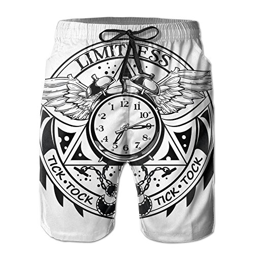 Xt Wings Mens (Alarm Clock Wings Popular Men's Sweatpants 8.82oz 2017 Summer)