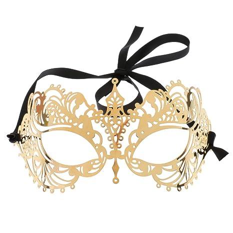 Sharplace Feliz Navidad Máscara de Ojos Baile de Máscaras Antifaz de Fiesta de Color Dorado Metal