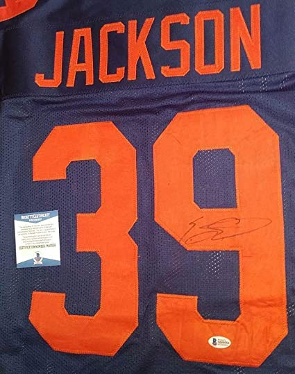 a11d7c5a4ab Image Unavailable. Image not available for. Color: Eddie Jackson  Autographed Jersey ...
