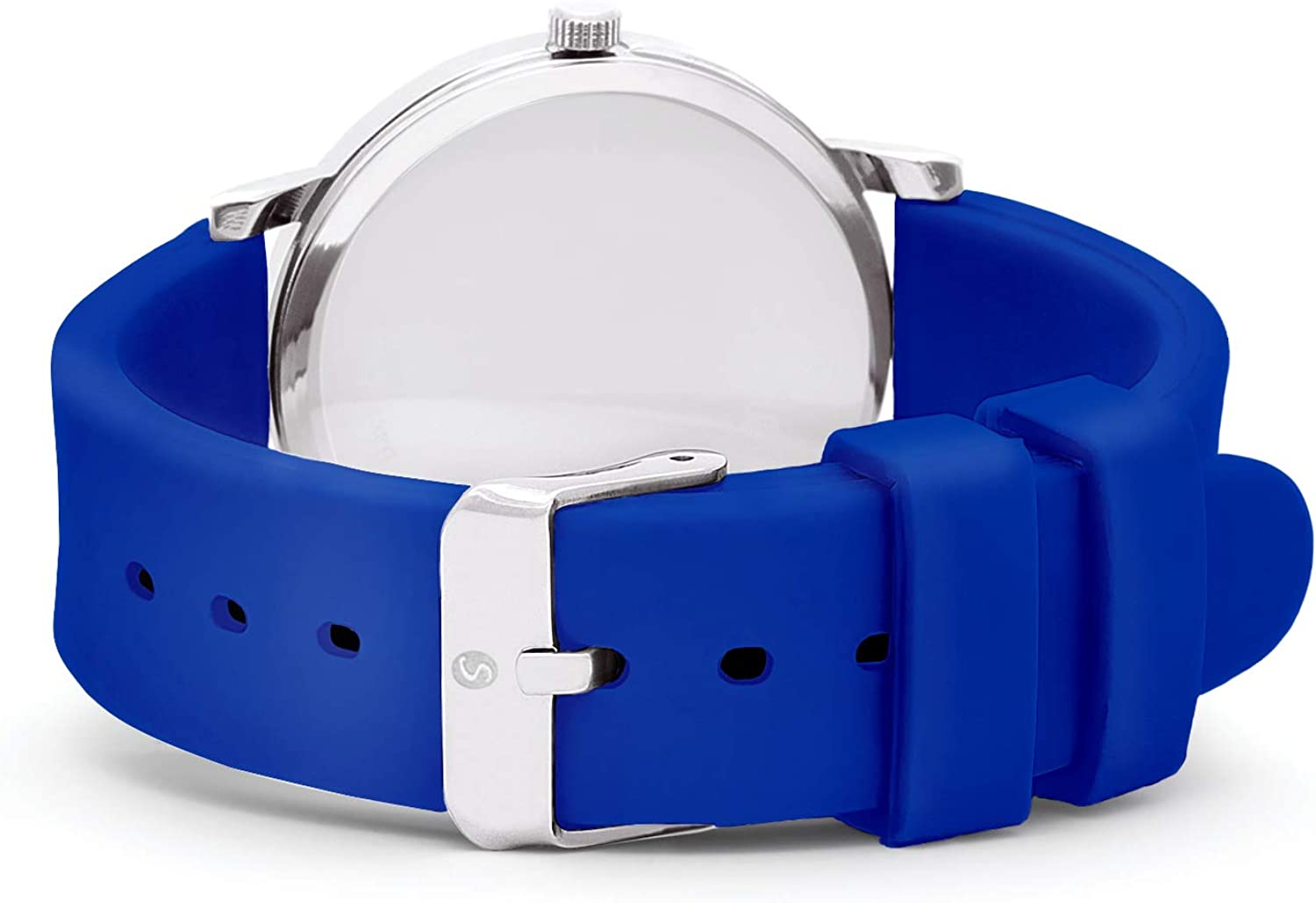 Speidel Medical Scrub Glow Watch - Silicone Band, 24 Hour Marks, Second Hand, Lighted Easy-Read Face Royal Blue