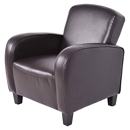 Modern leather armchair Used Leather Image Unavailable Amazoncom Amazoncom Armchair Gentleshower Modern Spacesaving Brown Leather