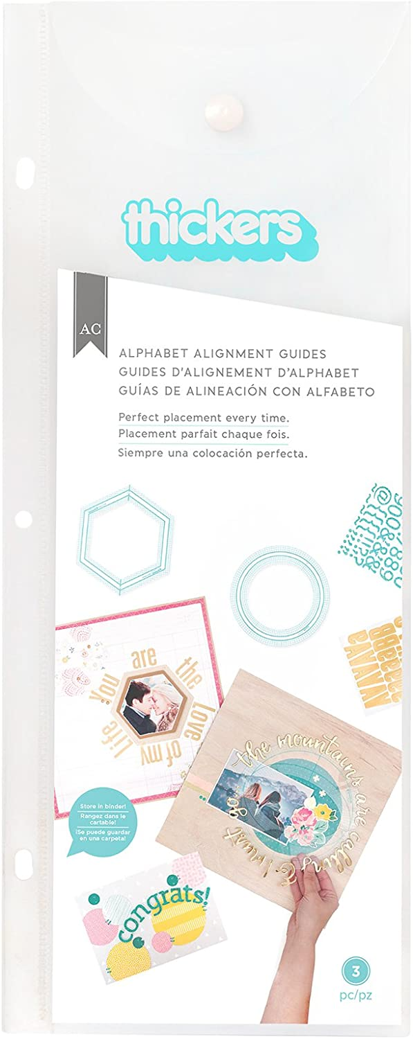 Thicker Alignment and Shape Guide by American Crafts. Place Stickers and Titles in Geometric Shapes and Patterns