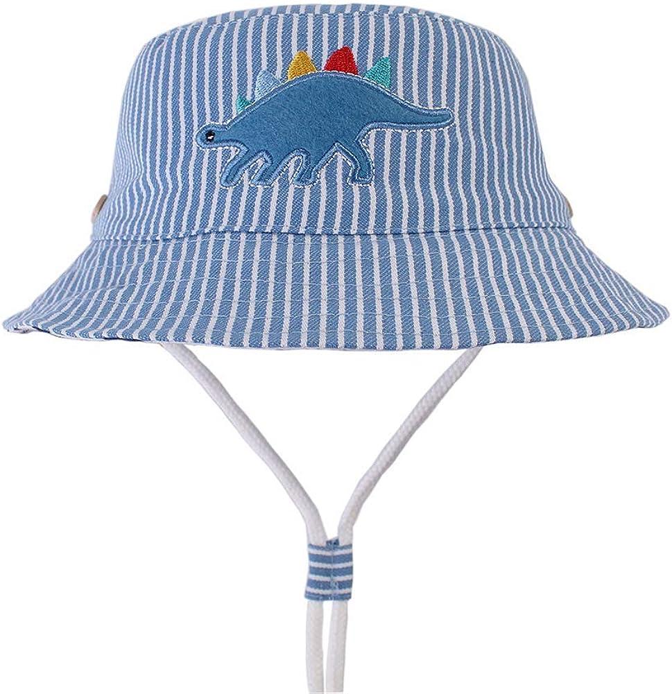 Gifts Treat Chapeau de Soleil d/ét/é de Filles Chapeau de Seau Pliable Chapeaux de Plage en Coton Doux Chapeau de p/êcheur /à Larges Bords