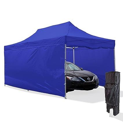 Vispronet Blue 10x20 Aluminum Carport Canopy Tent With 2 10x20 Full Walls,  2 10x10 Full