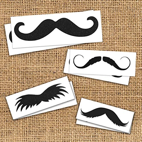 Mustache Pack Temporary Tattoos   Skin Safe   MADE IN THE USA  Removable]()