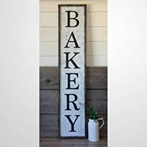 BYRON HOYLE Bakery Framed Wood Sign, Wooden Wall Hanging Art, Inspirational Farmhouse Wall Plaque, Rustic Home Decor for Nursery, Porch, Gallery Wall, Housewarming