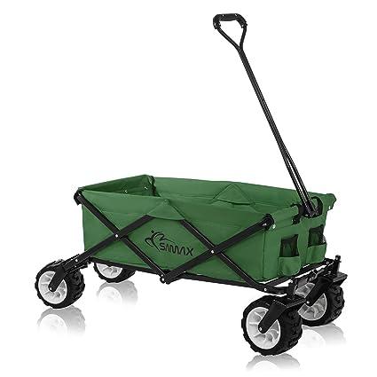 Samax - Carrito de transporte de mano todoterreno, verde, diferentes versiones