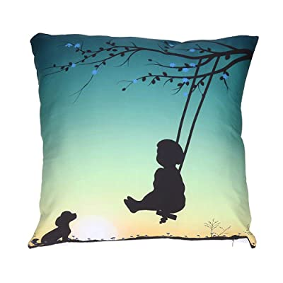 Mome ????Square Cushion Cover???? Happy Valentine's Day Throw Pillow Case Cushion Cover Polyester 18 x 18 Inch Home Decoration,Best Gifts (Sweet Lover) (E): Garden & Outdoor