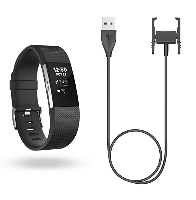 BlueBeach® Reemplazo USB carga cable cargador Dock para Fitbit Charge 2 (No es adecuado para Fitbit Charge y Charge HR)
