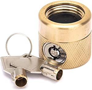 Flow Security Systems | The FaucetLock | Heavy Duty Brass Construction | Prevents Water Theft & Secures Outdoor Bibbs | Promotes Water Conservation | Keyed Alike | FSS 50 | 1 Pack