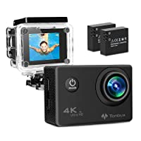 Deals on TONBUX Action Camera 17MP 1080P HD WiFi 2 inch LCD Screen