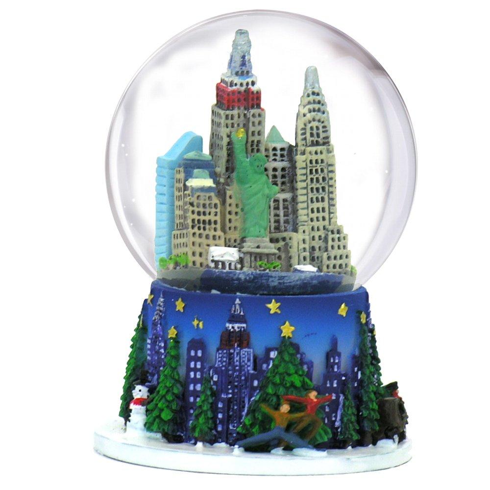 Artisan Owl New York City The Big Apple Multicolored 80mm Souvenir Water Snow Globe