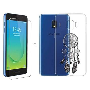 LJSM Samsung Galaxy J2 Core Funda Transparente + Protector ...