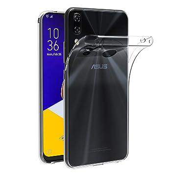 ivoler Funda Carcasa Gel Transparente para ASUS Zenfone 5 ZE620KL 6.2 Pulgadas/ASUS Zenfone 5Z ZS620KL 6.2 Pulgadas, Ultra Fina 0,33mm, Silicona TPU ...