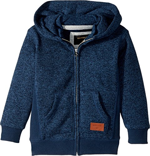 Quiksilver Boys Hoodie (Quiksilver Kids  Baby Boy's Keller Zip Hoodie (Toddler/Little Kids) Navy Blazer Heather X-Large)