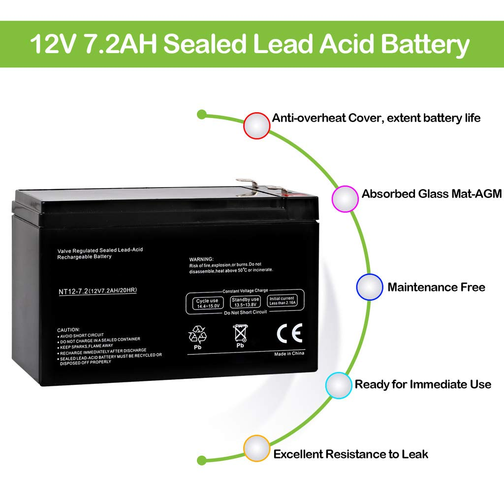 Hykolity Nt12 72 12v 72ah Replacement Ups Battery Lead Acid Diagram Apc Back 550 Be550g Brand Product Automotive