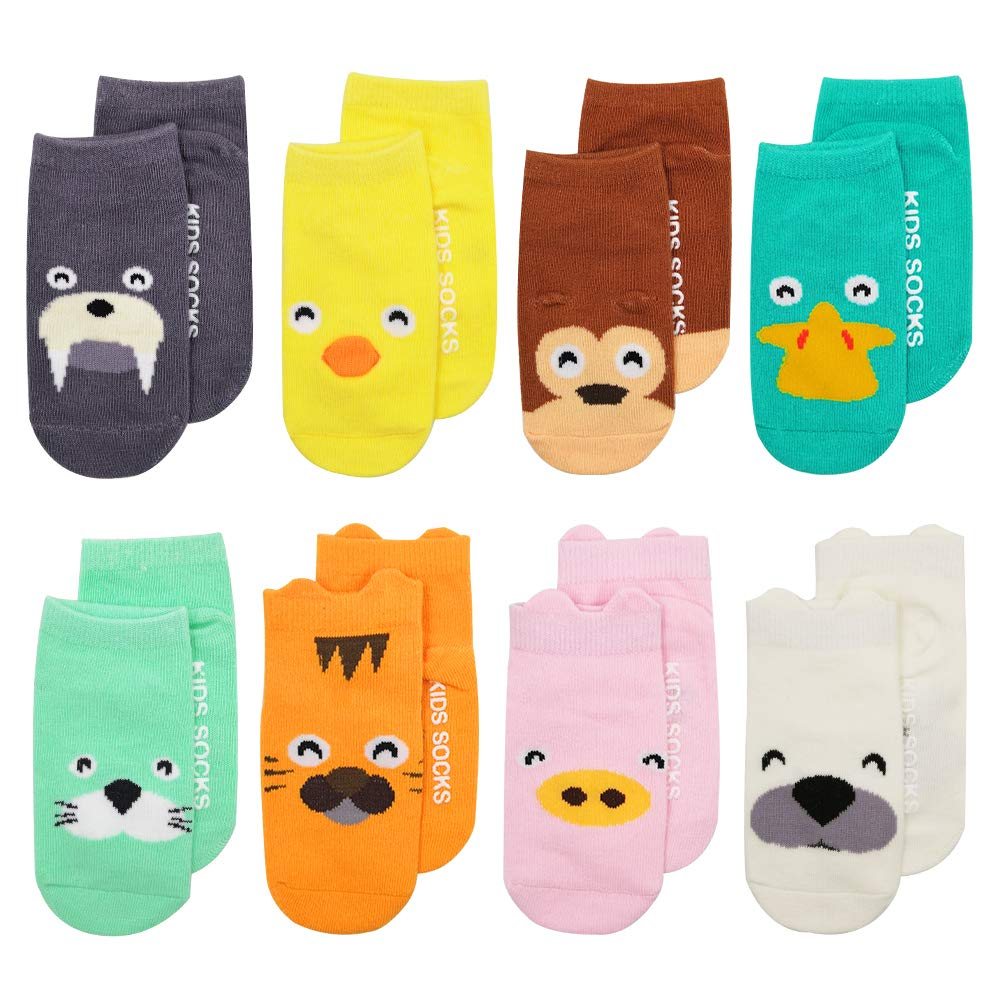 73a33b2f8c334 Baby Socks, ASBYFR Animal Printing Cartoon Toddler Sock with Grips ...