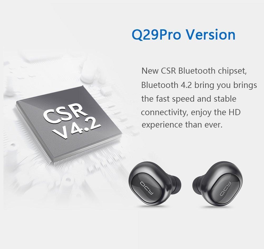 Mini auriculares Bluetooth QCY q29pro auricular inalámbrico auriculares TWS HD auriculares estéreo con micrófono: Amazon.es: Electrónica