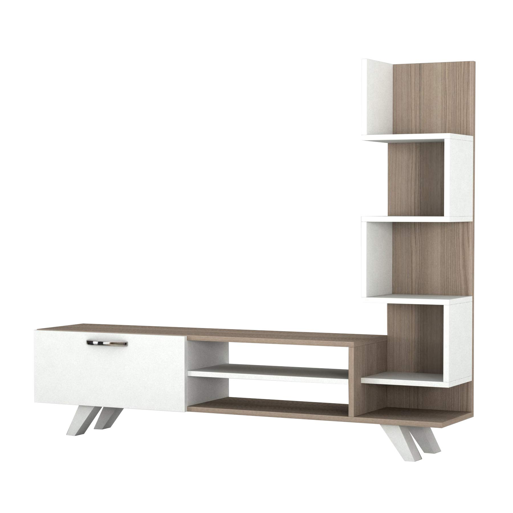 Gazelle TV Stand with Bookcase for TVs up to 54''