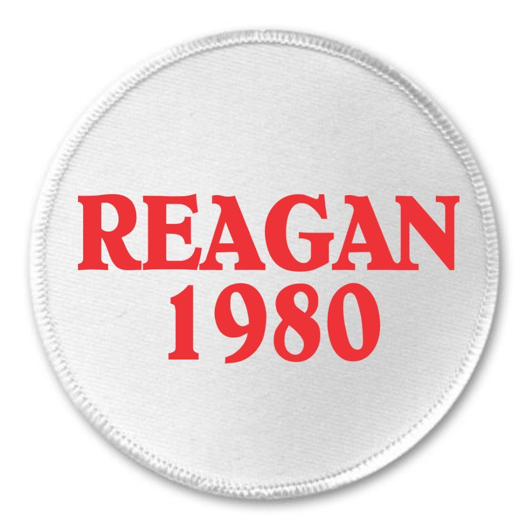 3 Sew On Patch A/&T Designs Reagan 1980 Ronald Campaign President Vote