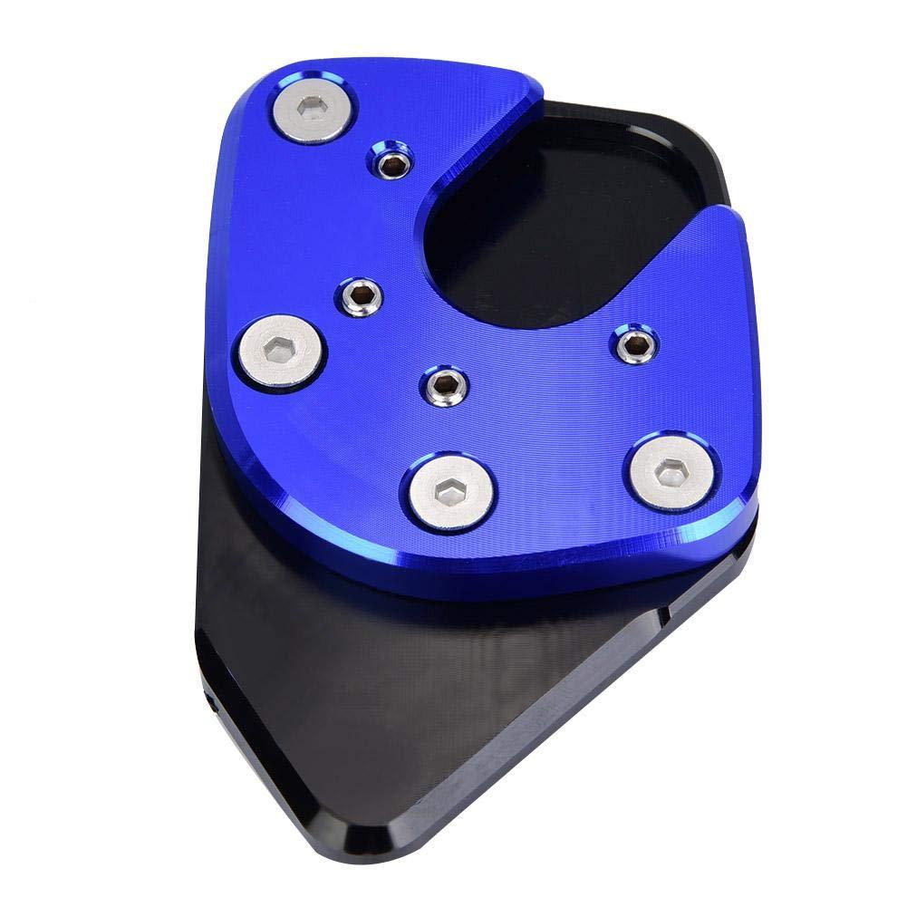Broco Piastra di supporto Piedino laterale Ingrandisci Pad di prolunga Moto Cavalletto Cavalletto laterale Cavalletto di prolunga Piastra di supporto per H-onda NC750X//X-ADV 17-19 Blu