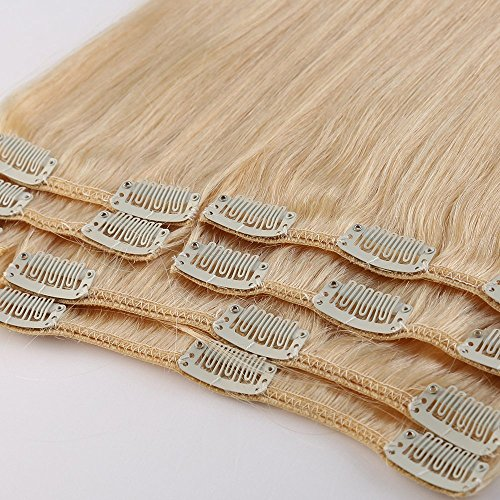 10-22' inches 70g-110g Full Head Clip in 100% Real Remy Human Hair...
