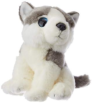 E-Chariot Soft Toys Wild Watchers Husky Dog Plush Stuffed Animal Cuddlekins by Wild Republic (88802) 7 Inches