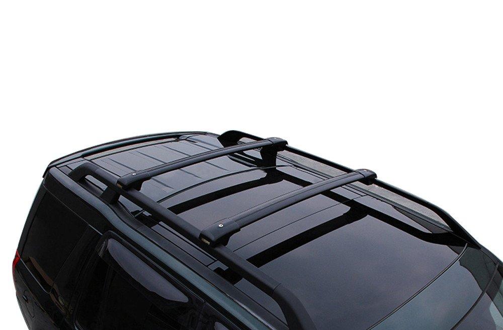 Negro Ajuste para Nissan X-Trail 2014-2018 Maletas con Equipaje Portaequipajes Portaequipajes Barra Transversal de riel Barra Transversal