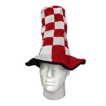 Adult Unisex Wacky Tall Hat Red White ST Georges Day 7934fade4b93