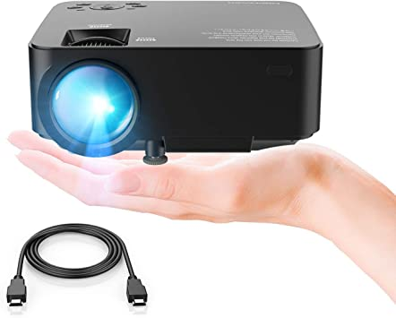 DBPOWER Mini proyector, 2200 Lumen Proyector LED de Video HD 1080P ...