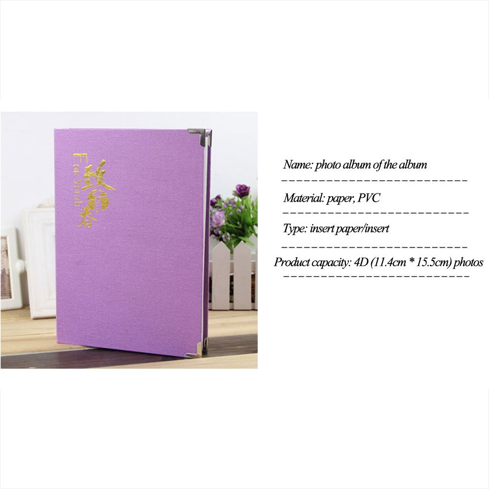 """Inserted Page Photo Album- Owmoon Picture Holders Which Have 120 Pockets for up to 4x6"""" Photos, Instax Picture, Name-card , Memo Ticket Holder .Collecting Book With a Message Box ,For youth"""